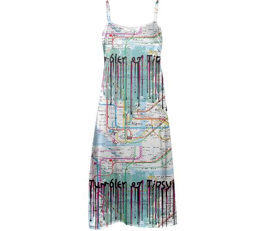 Subway Map Slip Dress