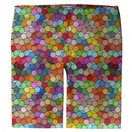 Colorful Geometric Polygon Pattern