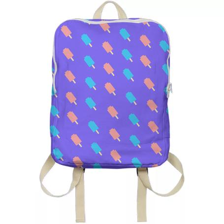 Ice Pop Print backpack in lilac
