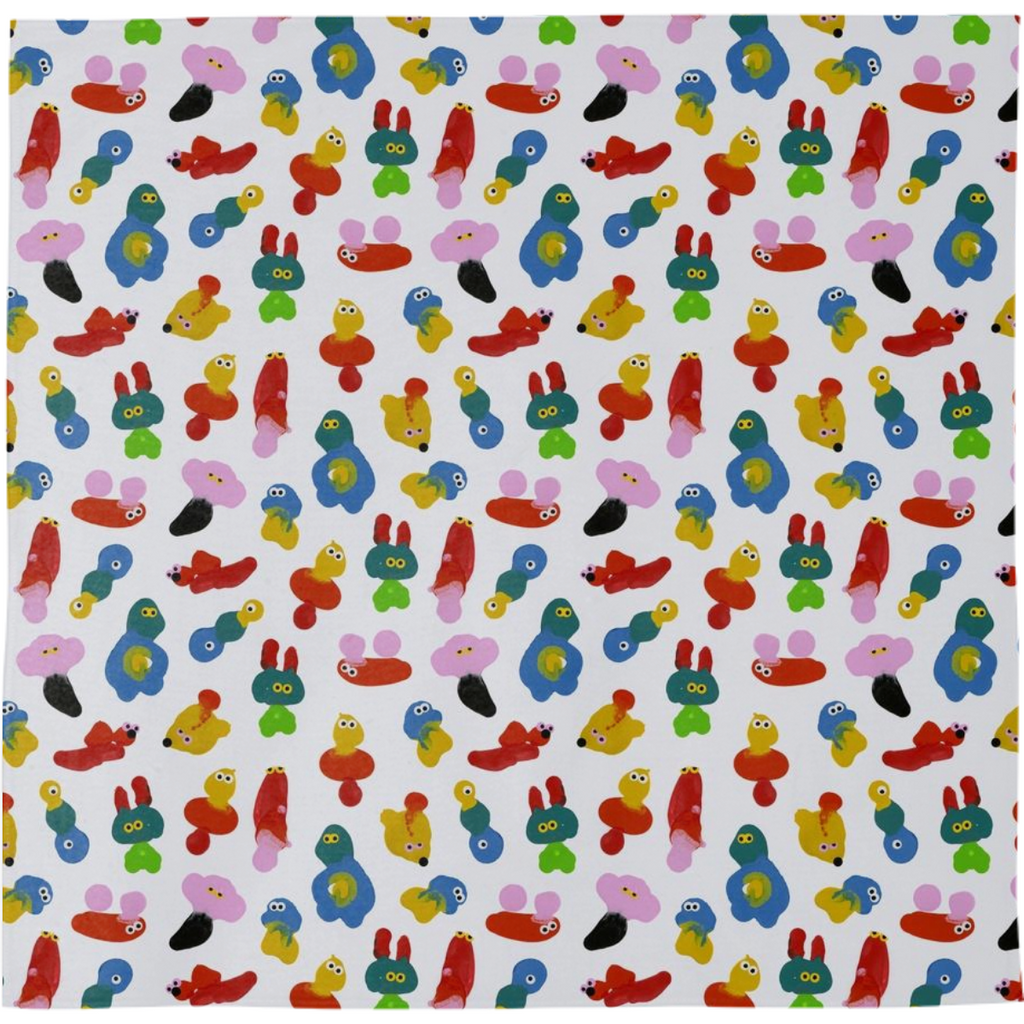 PAOM, Print All Over Me, digital print, design, fashion, style, collaboration, jon-burgerman, jon burgerman, Bandana, Bandana, Bandana, Blob, autumn winter spring summer, unisex, Poly, Accessories