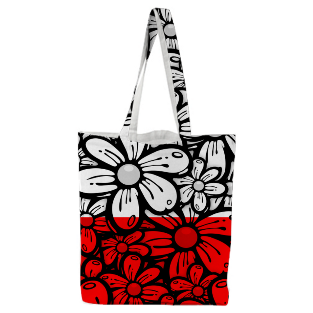 Color Block Daisy Tote