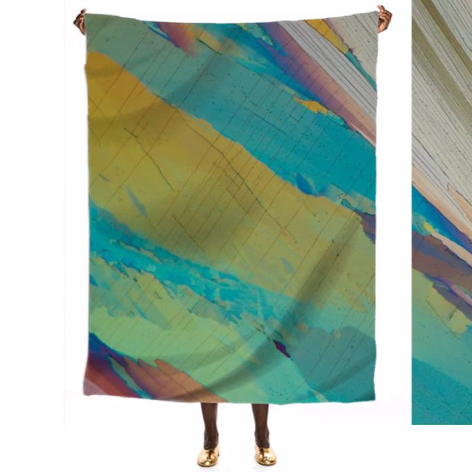 Light and Cool Crystal VIP Silk Scarf