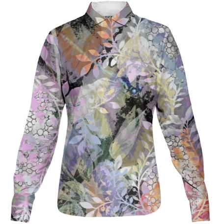 Garden of Whispers Women s Buttondown Shirt