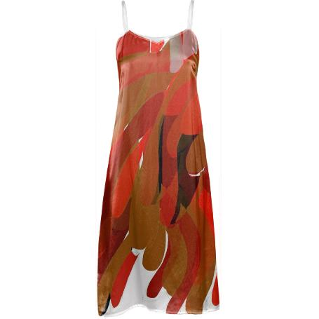 Sonia Safety Orange Slip Dress