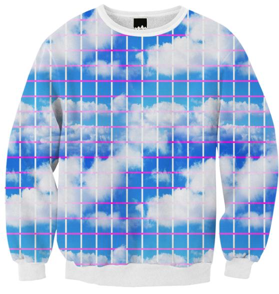 Cloud 7 Grid Paper Print Sweatshirt