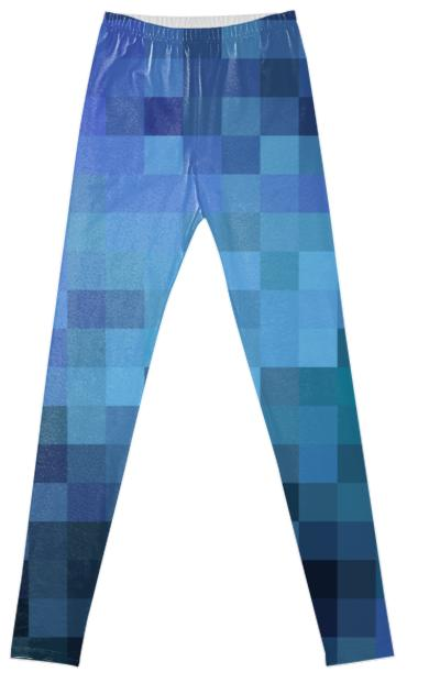 Blue Pixels Leggings