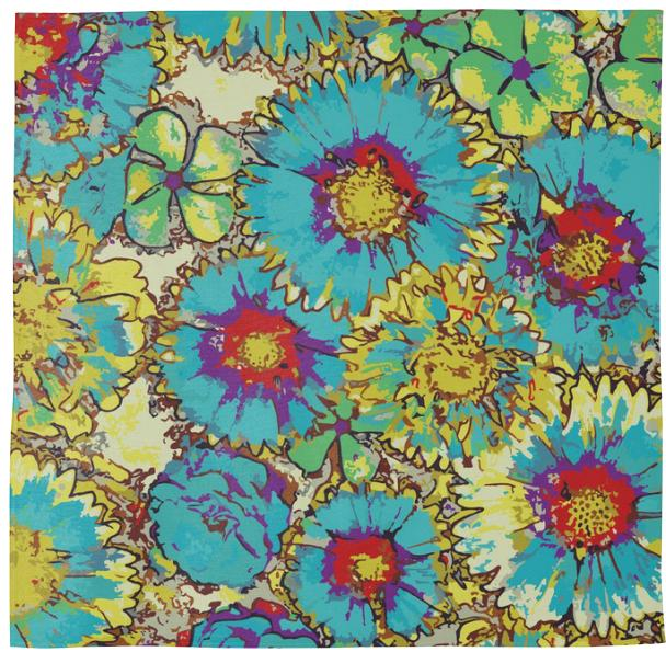 PAINTED FLOWERS bandana
