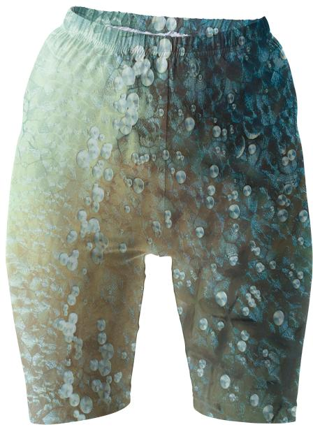 Aqua Bubbles Bike Shorts
