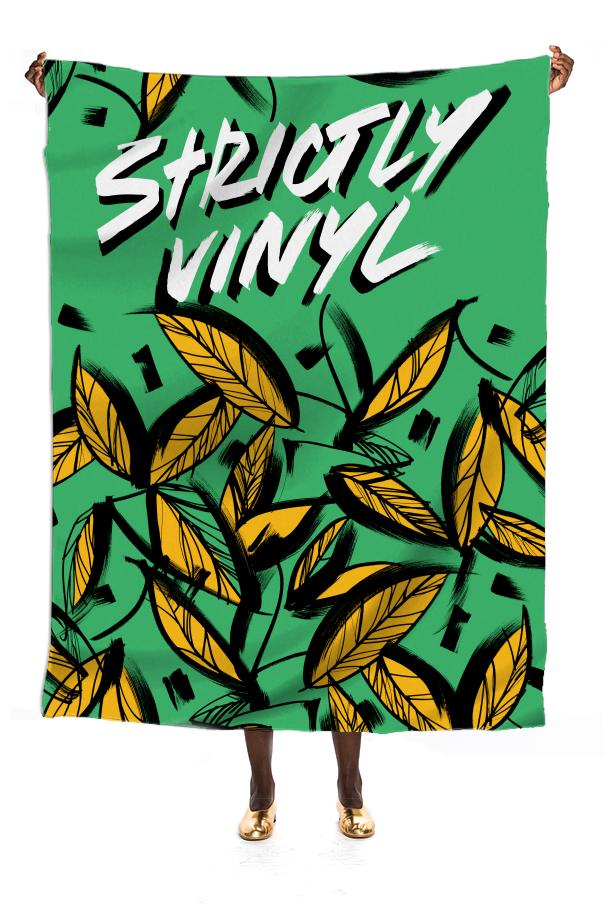 jungle logo silk scarf