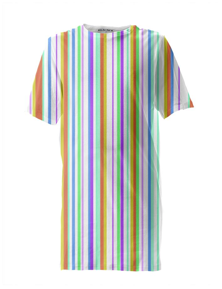 Striped Tall T shirt Multi Colored 2