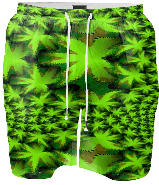 CANNABIS DREAM SWIM SHORT