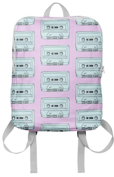 TEAL AND PINK CASSETTE TAPES
