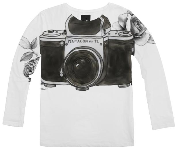 Doodle Camera Tumblr Art Long Sleeve Shirt