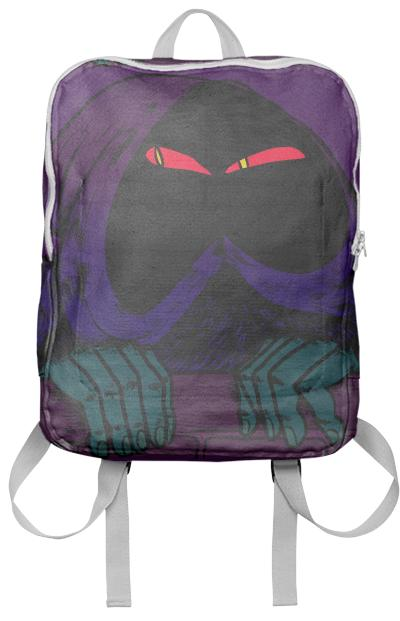 hooded figure backpack