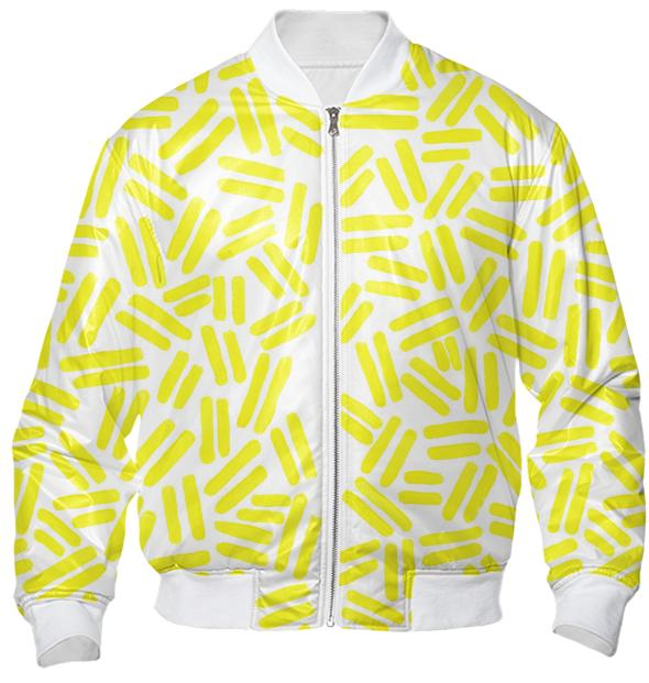 Yellow Dash Bomber Jacket