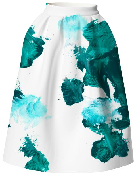 Green Untitled Neoprene Skirt