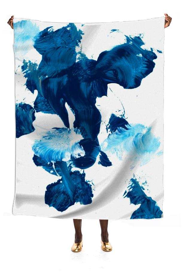 Blue Untitled Silk Scarf