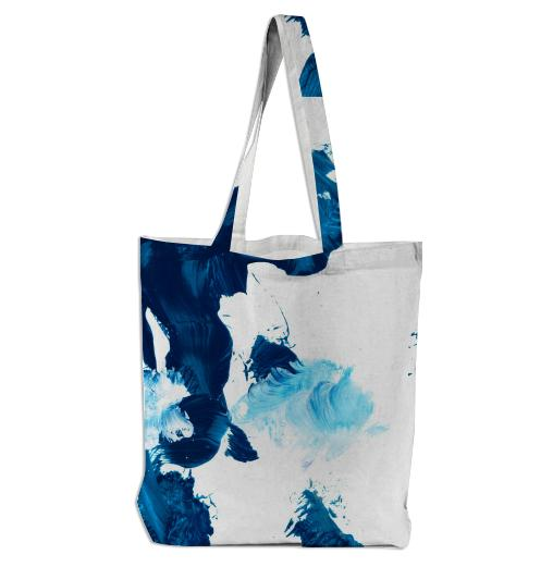 Blue Untitled Tote