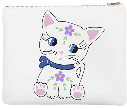 Bella the cat clutch bag