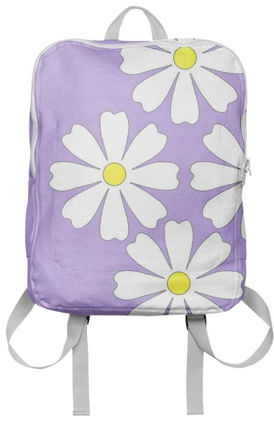 Lilac daisy backpack