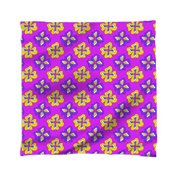 Pop pansy scarf