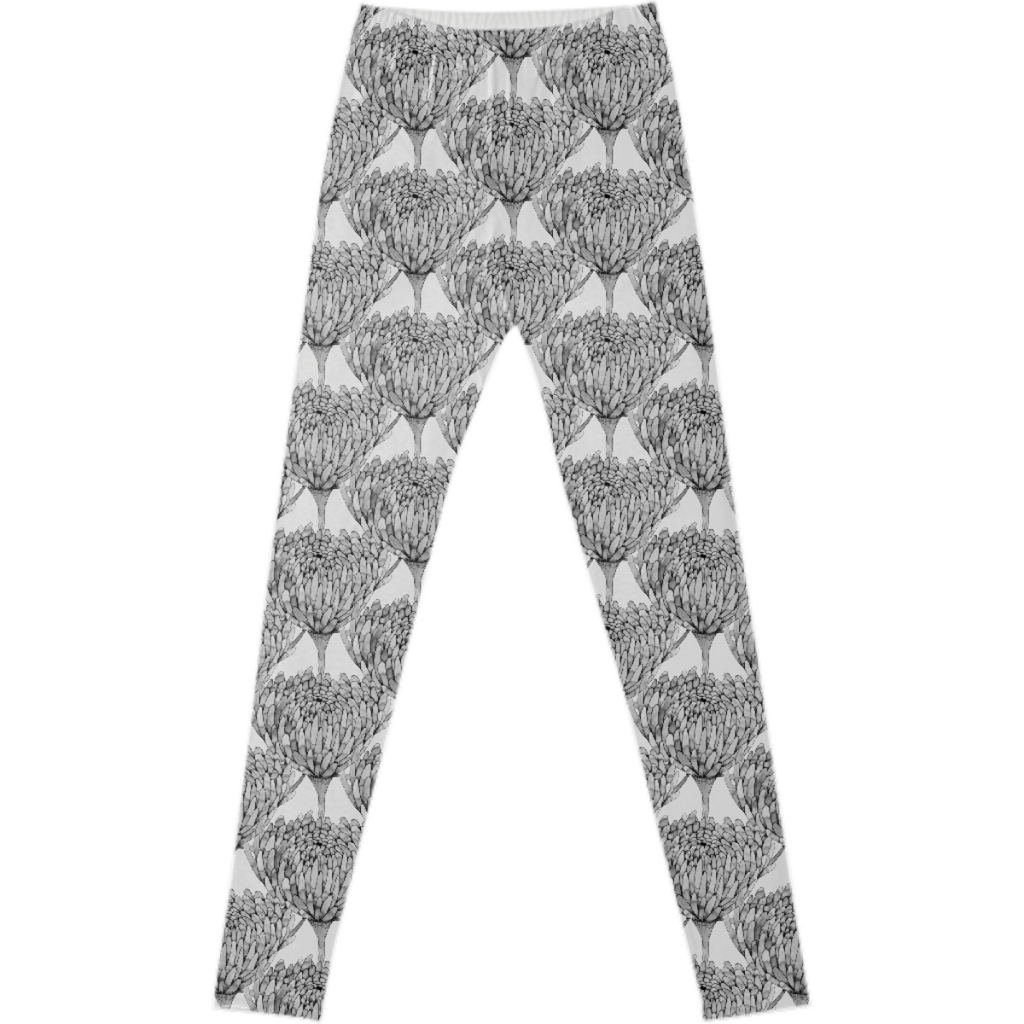 Chrysanthemum Crowd Leggings