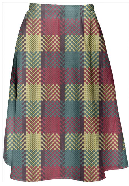 Retro Mod Gingham Skirt