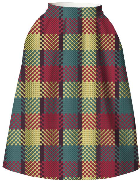 Retro Gingham Full Skirt