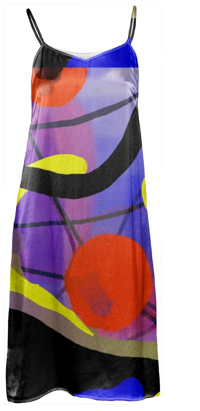 Jean Marie Bowcott M Series Abstract Slip Dress 100 Silk