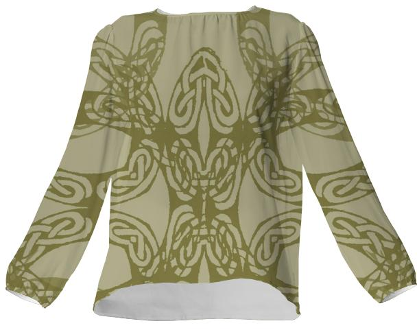Jean Marie Bowcott Celtic Collection 100 Silk Top