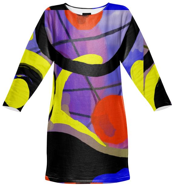 Jean Marie Bowcott Abstract M Series Sweatshirt Dress