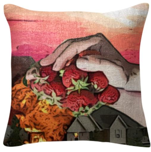 Strawberry Smother Pillow