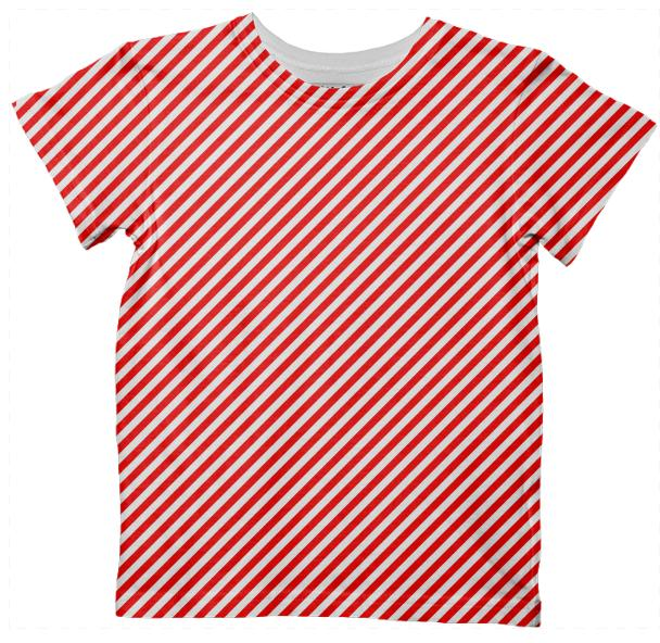 PAOM, Print All Over Me, digital print, design, fashion, style, collaboration, paomkids, Kids Tshirt, Kids-Tshirt, KidsTshirt, Red, White, Tiny, Small, Stripe, autumn winter spring summer, unisex, Poly, Kids