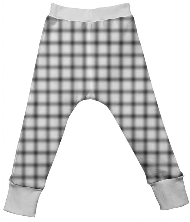 Blurry Small Grid Drop Pant