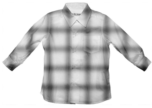 Blurry Grid Button Down