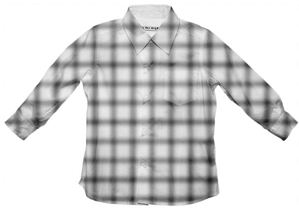 Blurry Small Grid Button Down