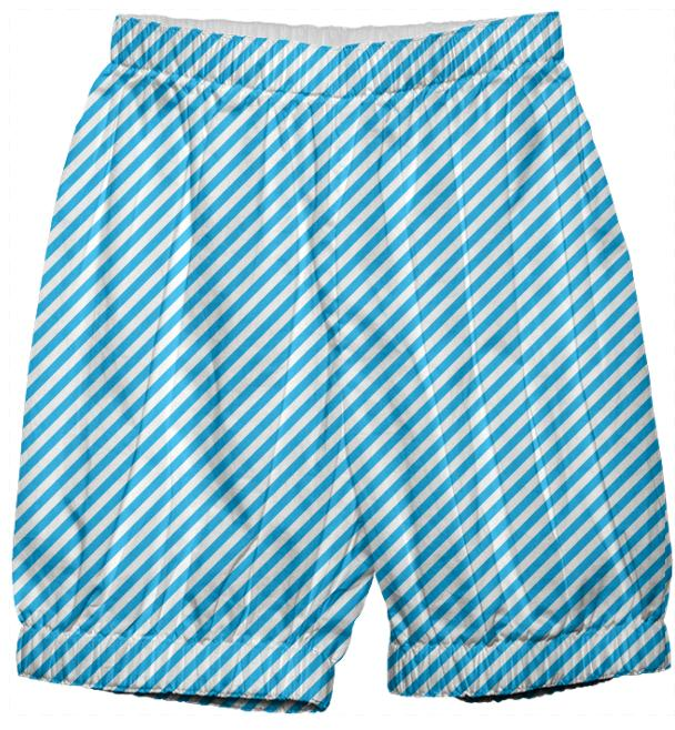 Blue White Small Stripe Bloomers