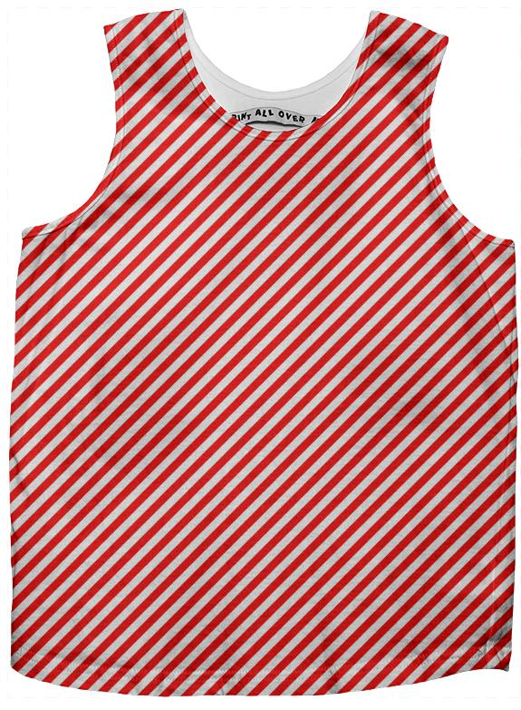 PAOM, Print All Over Me, digital print, design, fashion, style, collaboration, paomkids, Kids Tank Top, Kids-Tank-Top, KidsTankTop, Red, White, Small, Stripe, autumn winter spring summer, unisex, Poly, Kids