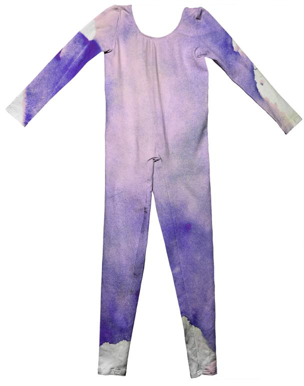 Purple Watercolor Unitard
