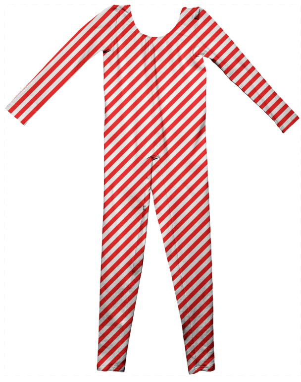 PAOM, Print All Over Me, digital print, design, fashion, style, collaboration, paomkids, Kids Unitard, Kids-Unitard, KidsUnitard, Red, White, Small, Stripe, autumn winter spring summer, unisex, Cotton, Kids
