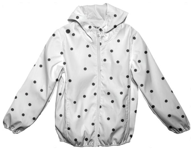 PAOM, Print All Over Me, digital print, design, fashion, style, collaboration, paomkids, Kids Rain Jacket, Kids-Rain-Jacket, KidsRainJacket, Black, Large, Dot, autumn winter spring summer, unisex, Poly, Kids