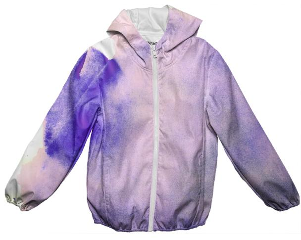 Purple Watercolor Rain Jacket