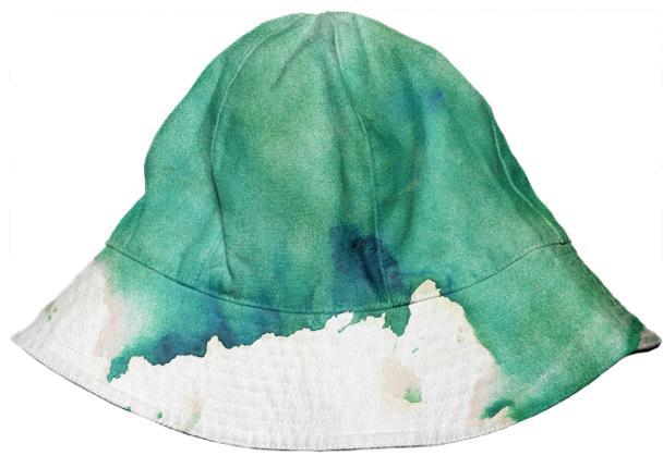 Green Watercolor Bucket Hat