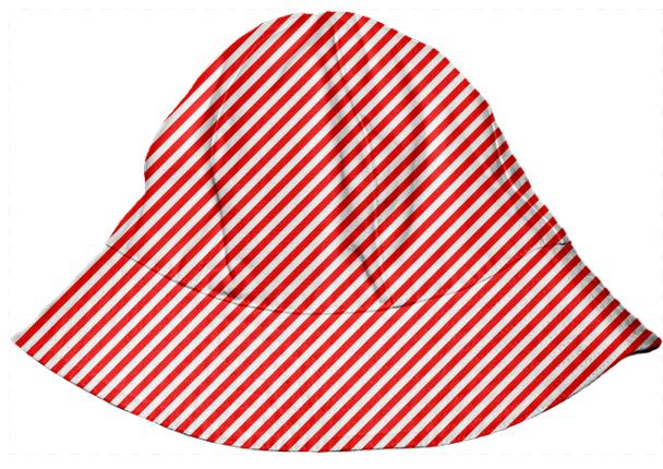 PAOM, Print All Over Me, digital print, design, fashion, style, collaboration, paomkids, Kids Bucket Hat, Kids-Bucket-Hat, KidsBucketHat, Red, White, Small, Stripe, autumn winter spring summer, unisex, Poly, Kids
