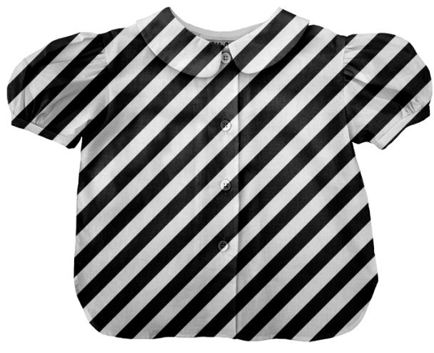 Large Black Stripe Kids Blouse