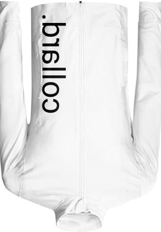 Collard White Track Jacket