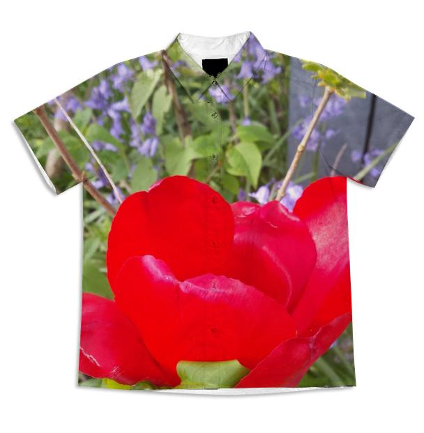Ruby Rose short sleeve button up
