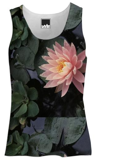pink waterlily tank top