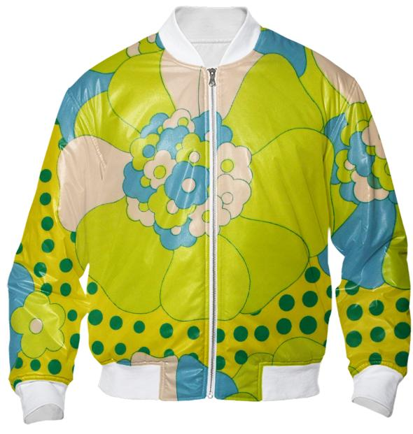 Flower Power Polka Dots Bomber Jacket