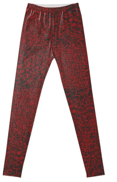 Wiggle leggings red